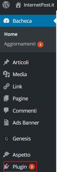 Bacheca WordPress - Plugin