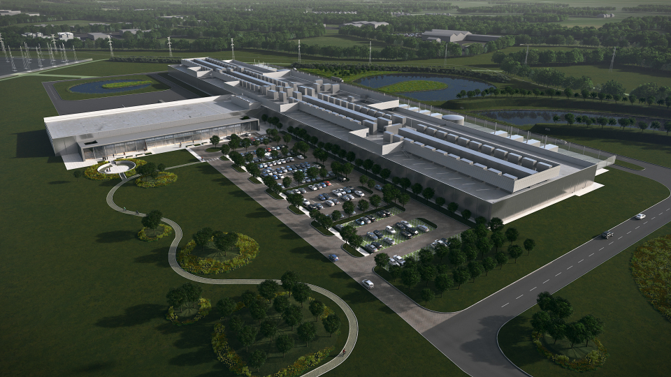 Una foto del data center costruito da Facebook in Irlanda