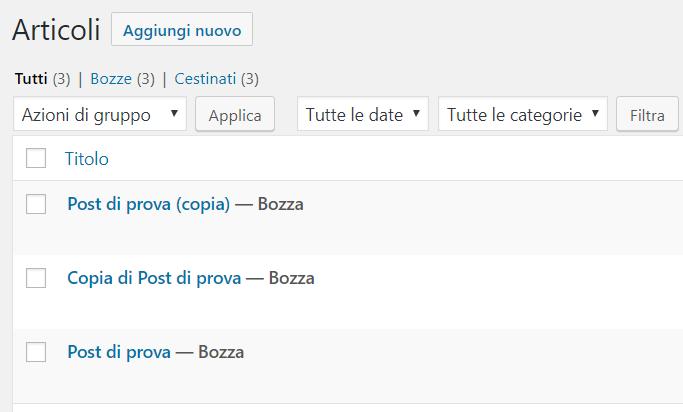 Duplicate Posts in azione