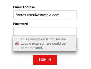 Firefox avviso di sicurezza HTTPS