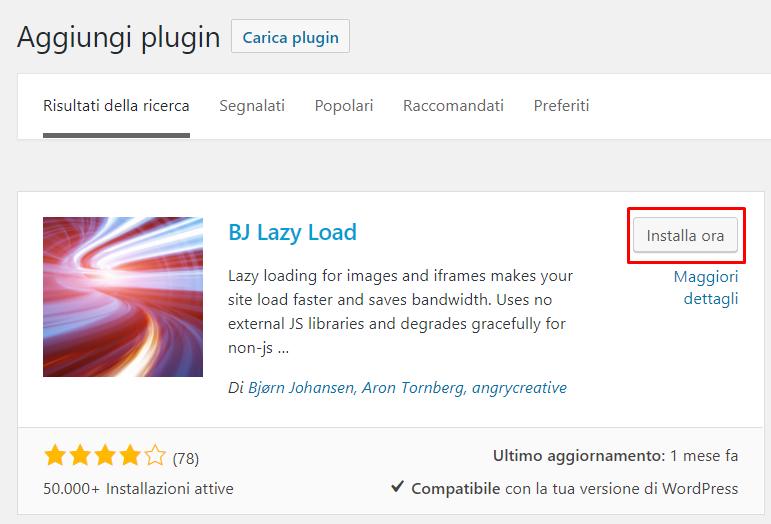 WordPress: caricamento selettivo delle immagini (lazy load)