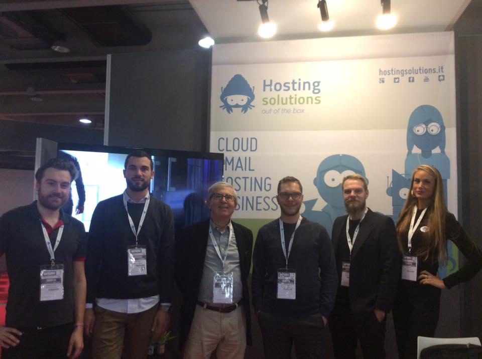 Il team di Hosting Solutions e lo stand H31