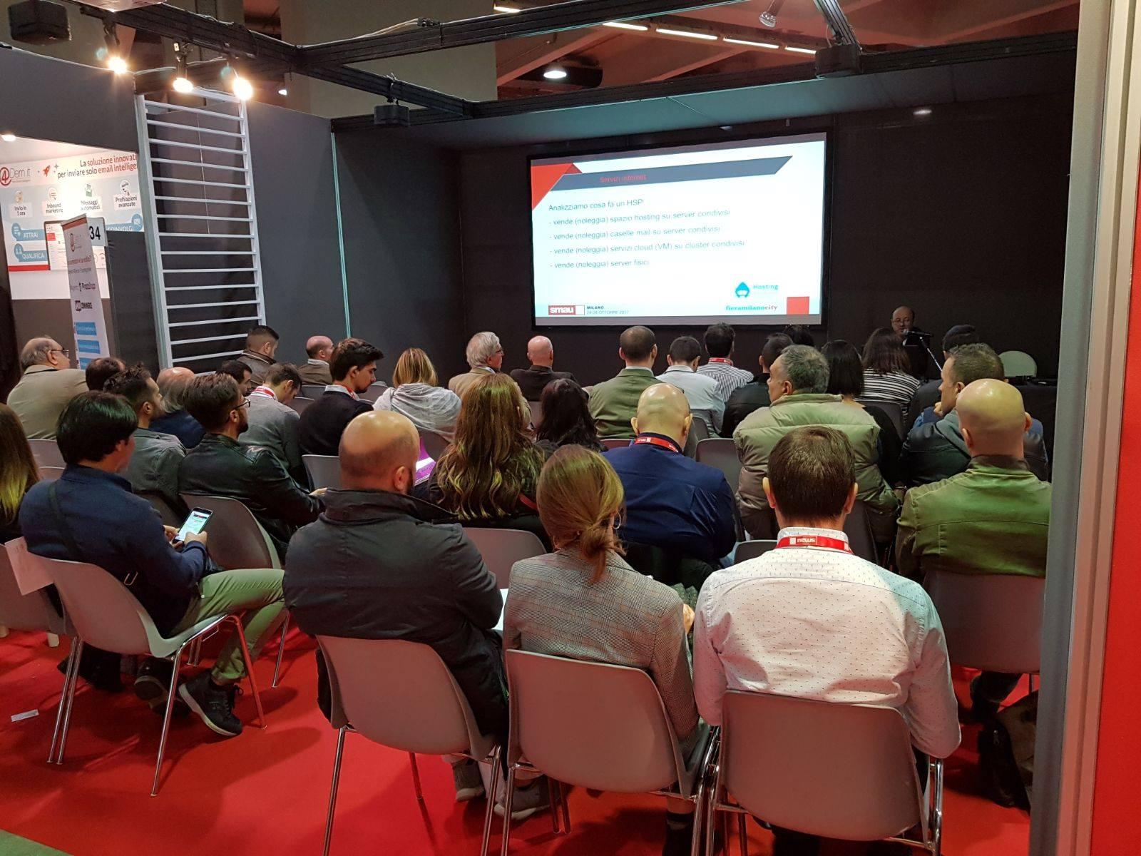 Workshop Hosting Solutions presentato dall'ingegnere Francesco Leoncino.