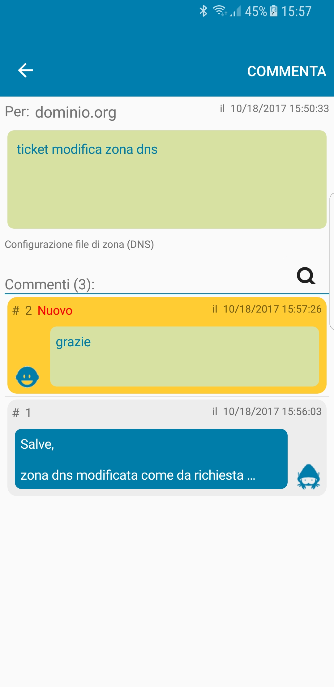 Server Mate App - commenti