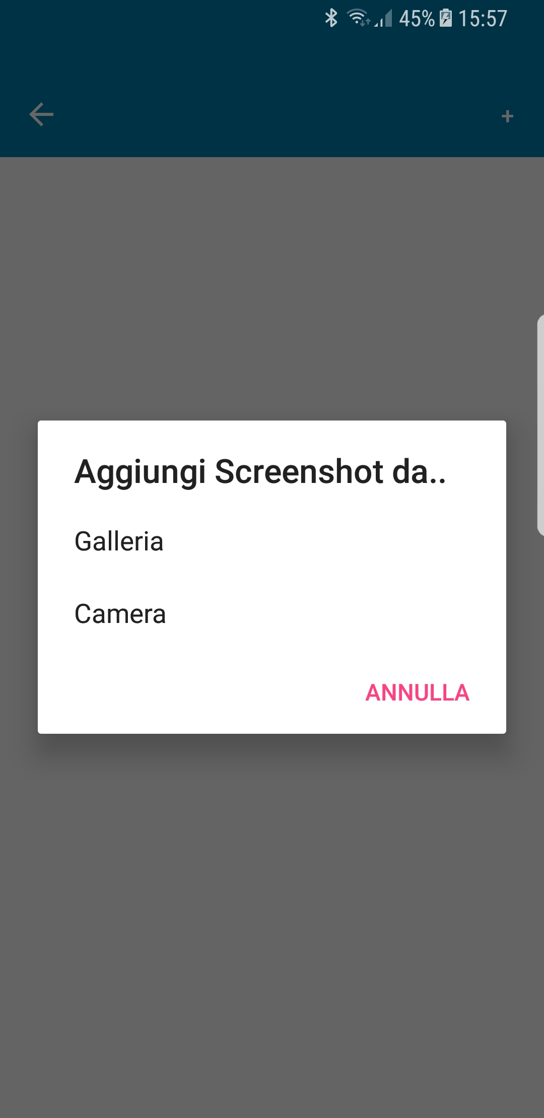 Server Mate app - aggiungi screen