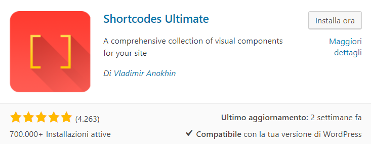 WordPress shortcode ultimate