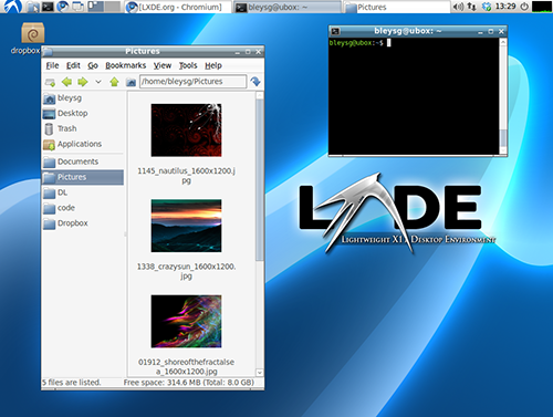 Linux, ambiente desktop LXDE