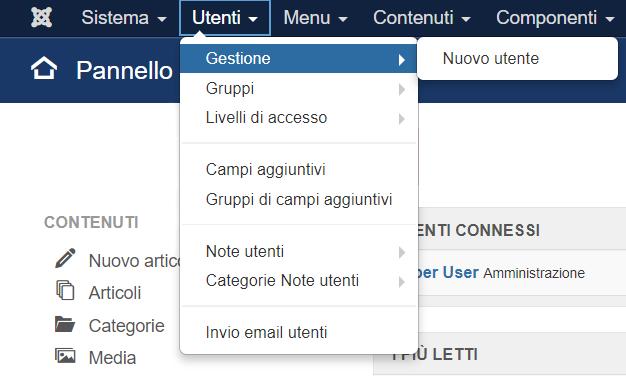 Joomla: attivare le notifiche per ogni nuova registrazione utente