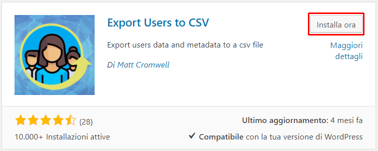 Users to CSV plugin