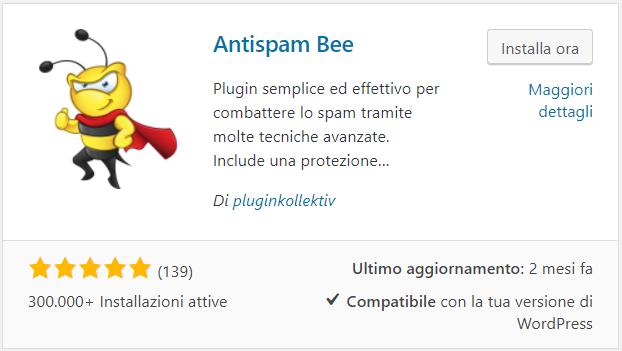 Gestione dei commenti spam con Antispam Bee