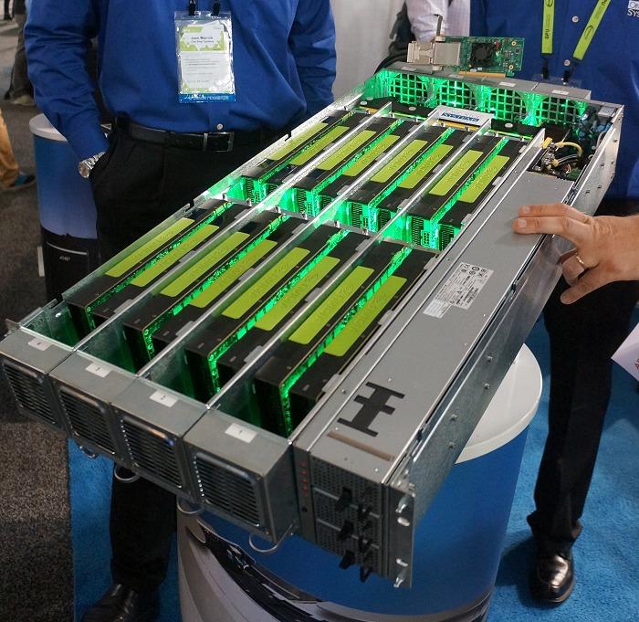 Un rack con setup multi gpu.