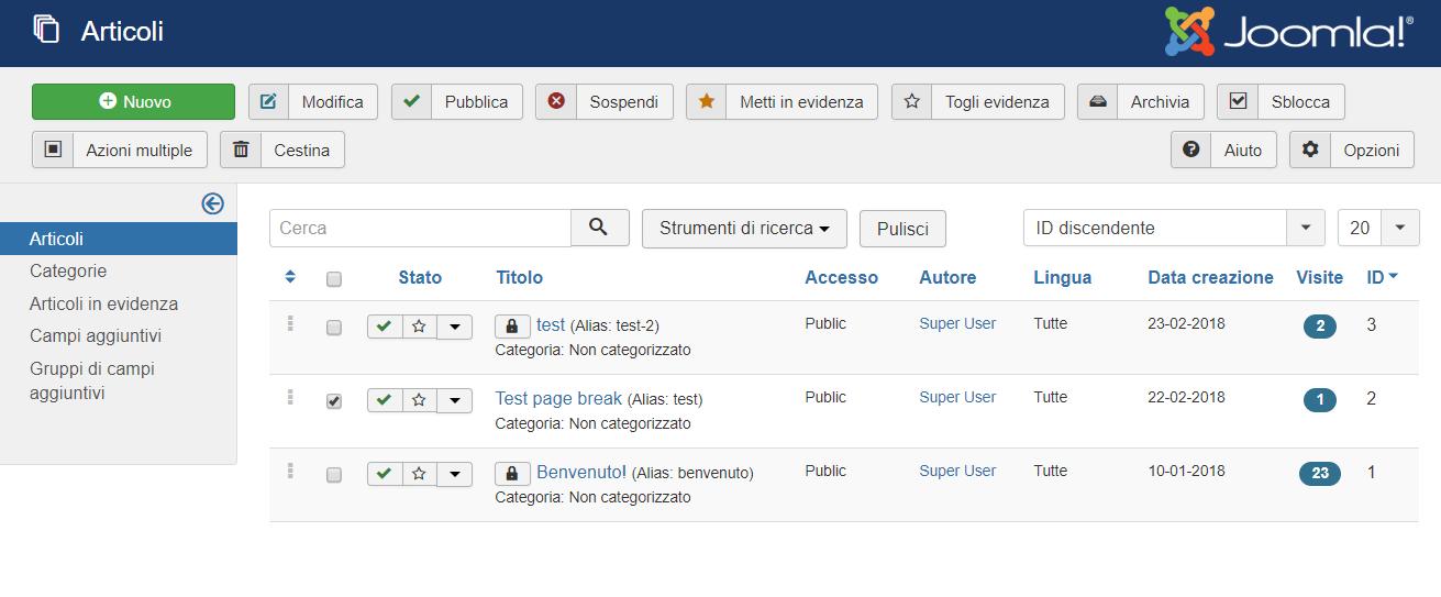 Joomla e funzione page break