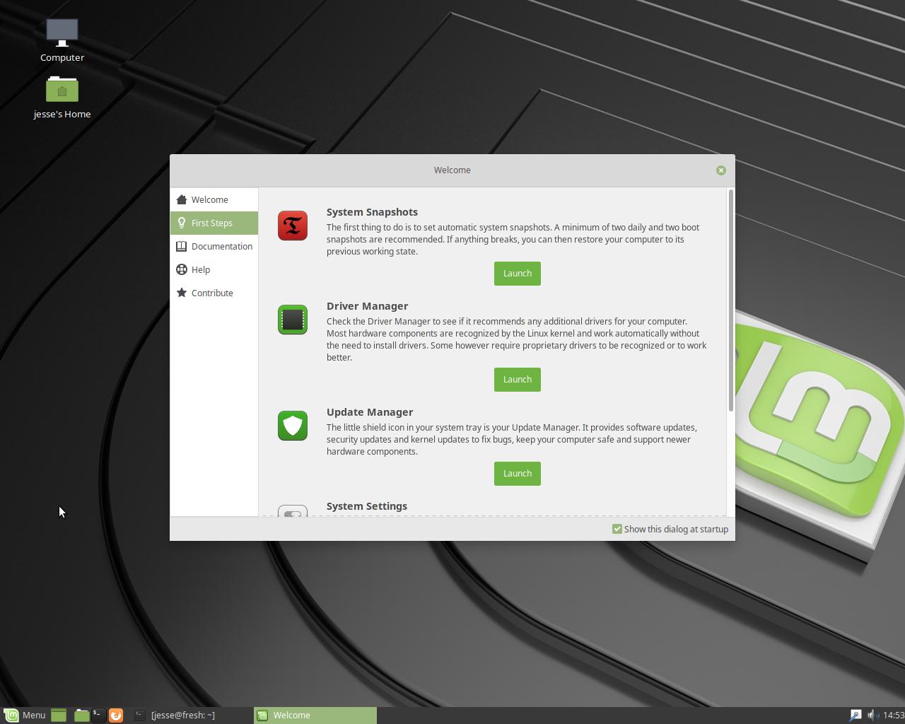 Una schermata di Linux Mint (fonte: Distrowatch.com).