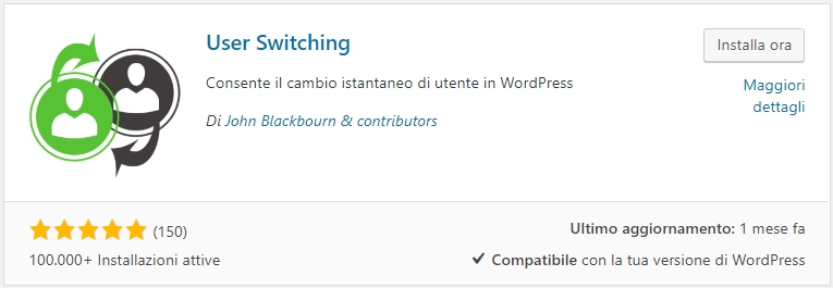 Cambiare account con User Switching