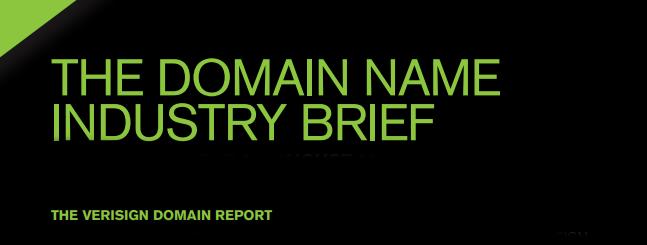 Mercato dei domini, Domain Industry Brief Verisign