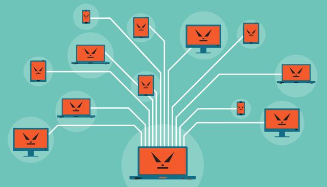 Attacchi DDoS perché è piu' difficile individuare i colpevoli. Fonte immagine: Kaspersky.
