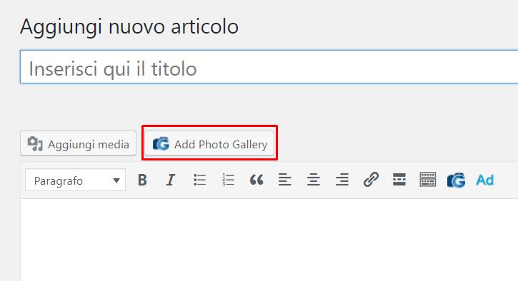 WordPress: creare una galleria immagini responsive