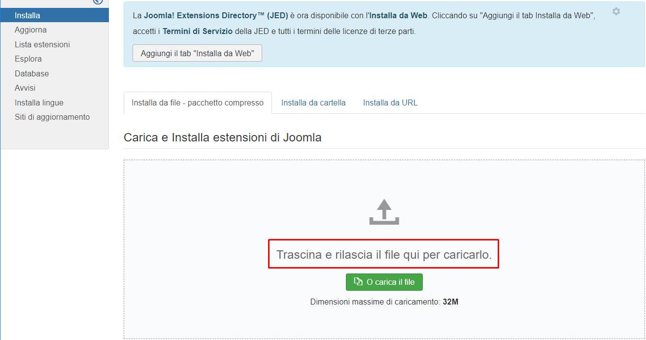 Joomla: gestione dei redirect