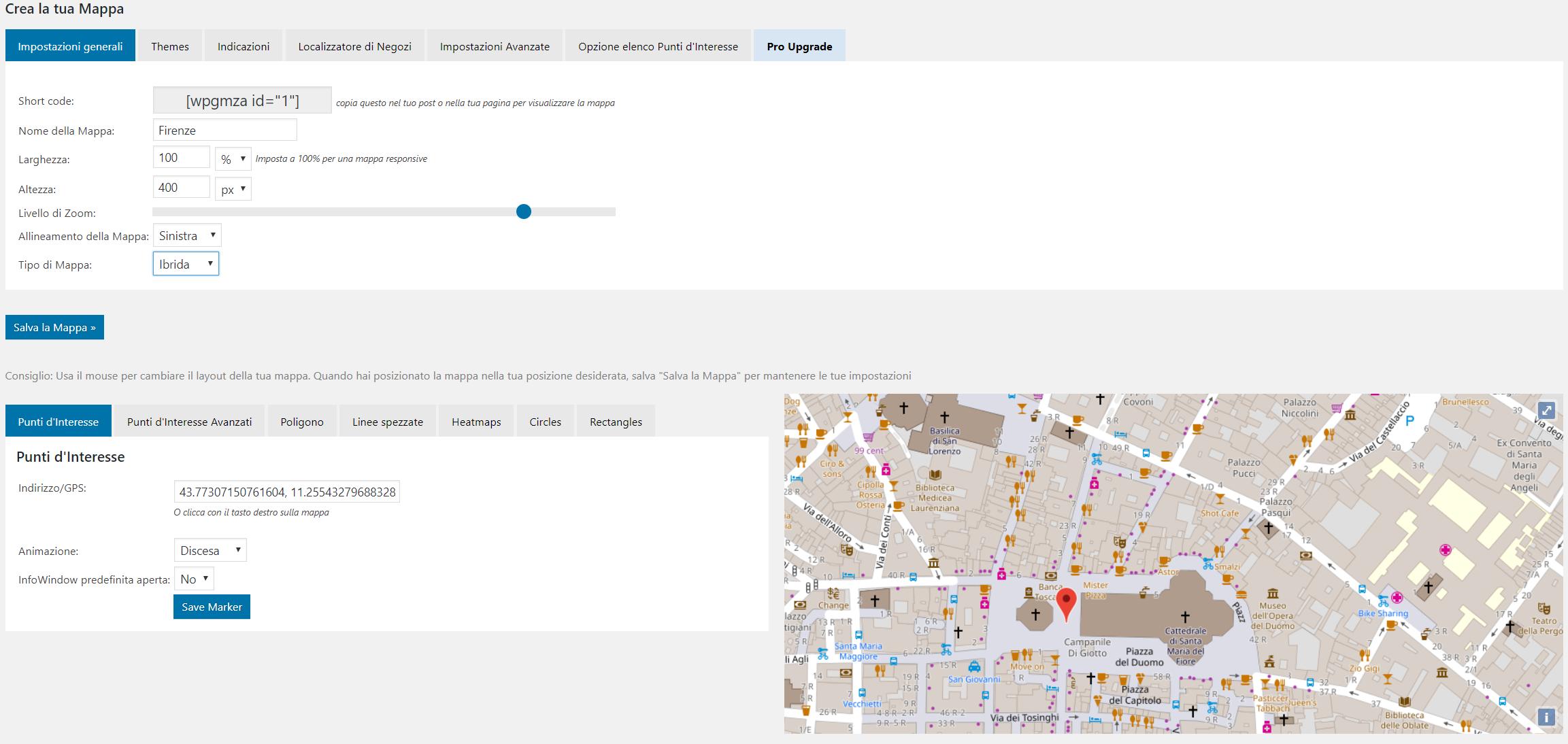 Google Maps plugin, inserire una mappa interattiva