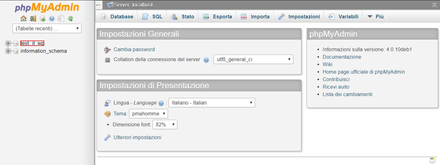 Cambiare tema WordPress da phpMyAdmin