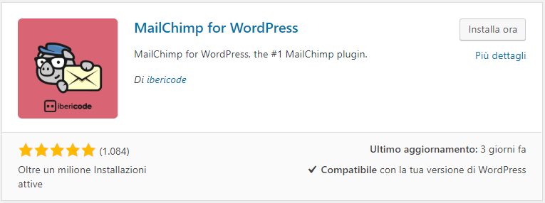 Integrazione di MailChimp in WordPress