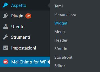 Integrazione di MailChimp in WordPress