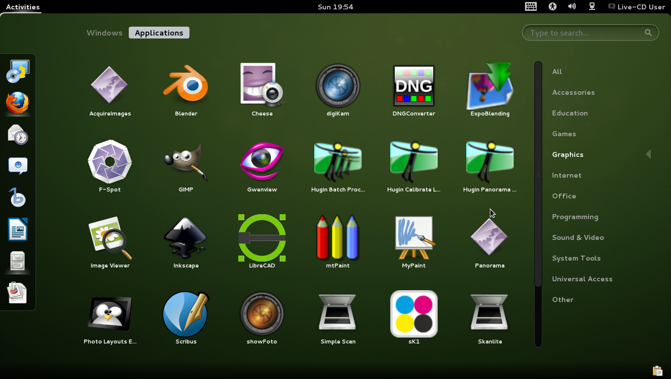 openSUSE Edu Li-f-e Graphics
