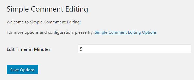 Attivare la modifica dei commenti lato utente